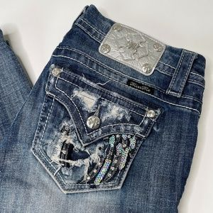 Miss Me Mid-Rise Skinny Distressed Jeans Size 26